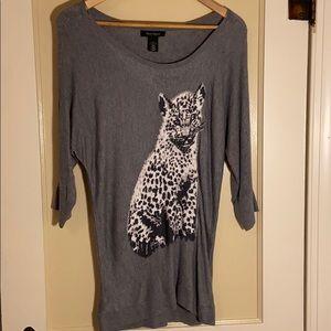 Snow Leopard Tunic Sweater